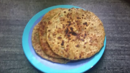 Chawal (Stuffed Rice ) Paratha