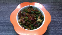 Chopped Bhindi Sabzi (Okra Vegetable)