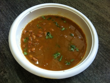 Punjabi Rajmah In Gravy (Red Kidney Beans In Curry)